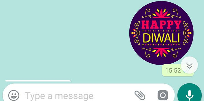 How to Send Diwali Stickers on Whatsapp?